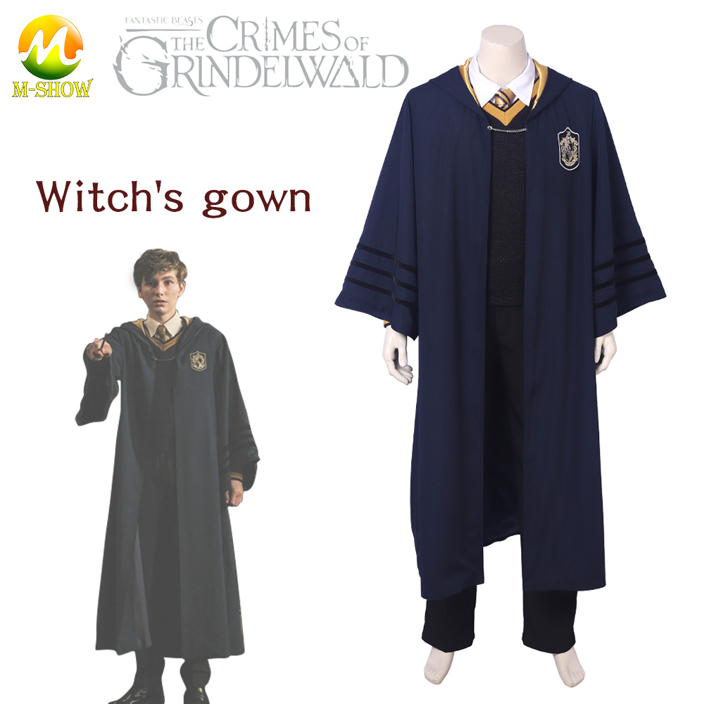 Fantastic Beasts Young Newt Cosplay Costume The Crimes of Grindelwald Costume Newt Scamander Costume Hogwarts School uniform