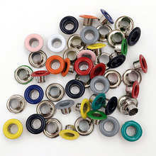 (100 pieces/lot).eyelets. Clothing & Accessories. buttonhole. Button. rivet. Snaps.Color paint . Metal  holes. Bags decorative
