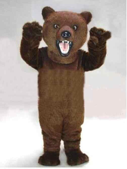 高品質ブラウン毛深いクマ大人サイズ漫画のキャラクターカーニバルパーティー衣装のスーツファンシーdress