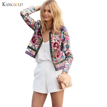 Женская куртка с цветочным принтом для повседневной носки