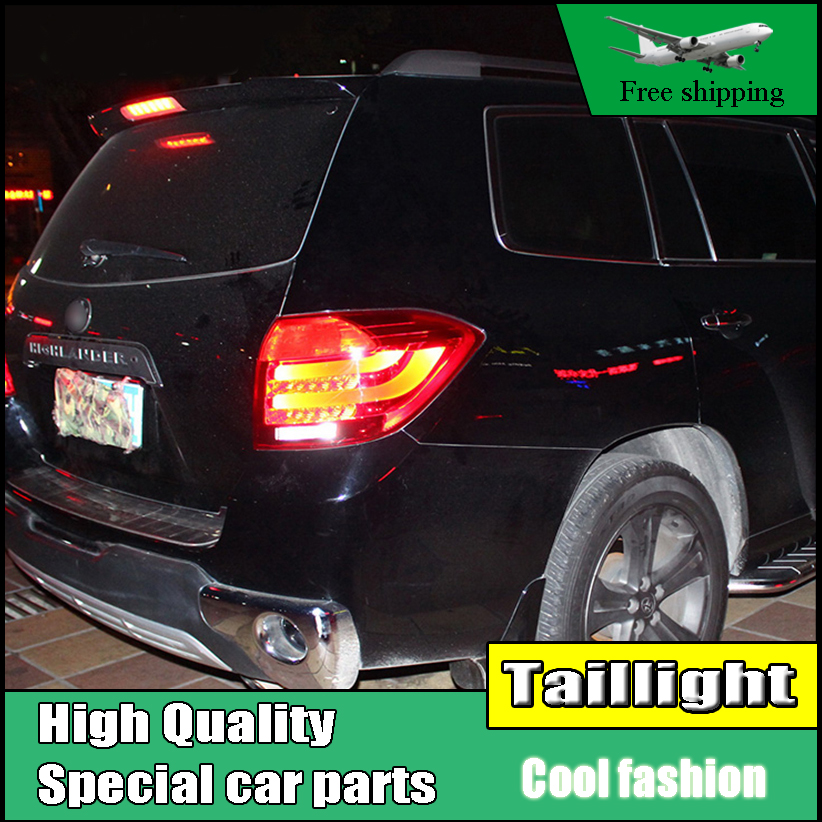 Car Styling Tail Lights For Toyota Highlander 2008-2011 Taillights LED Tail Light Rear Lamp DRL+Brake+Signal Auto Accessories high quality car styling 35w led car tail light for toyota highlander 2015 tail lamp drl signal brake reverse lamp