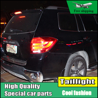 Car Styling Tail Lights For Toyota Highlander 2008 2011 Taillights LED Tail Light Rear Lamp DRL+Brake+Signal Auto Accessories