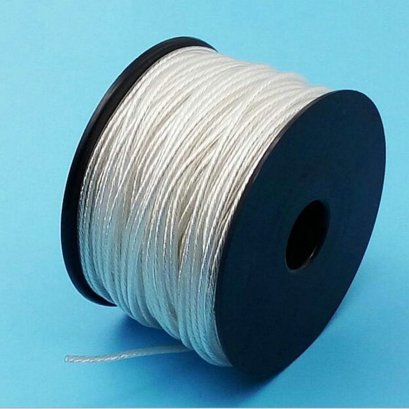 MLLSE 200Meters 5N Silver Core High Purity OCC Teflon Single Crystal Silver Wire DIY Headset Upgrade