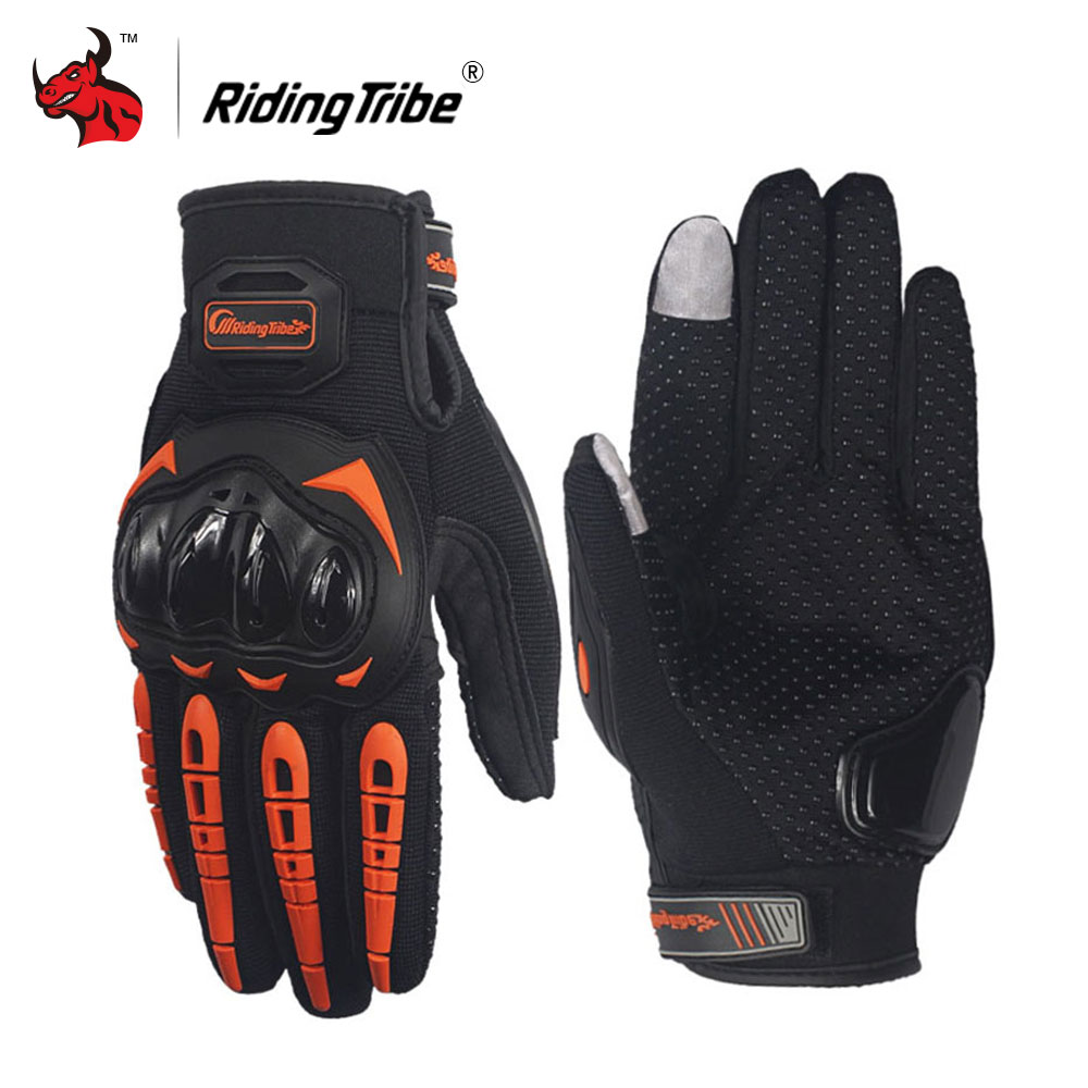 Riding Tribe Motorcycle Gloves Moto Racing Gloves Guantes Moto Gants Luvas Touch Screen Motocross Gloves Black