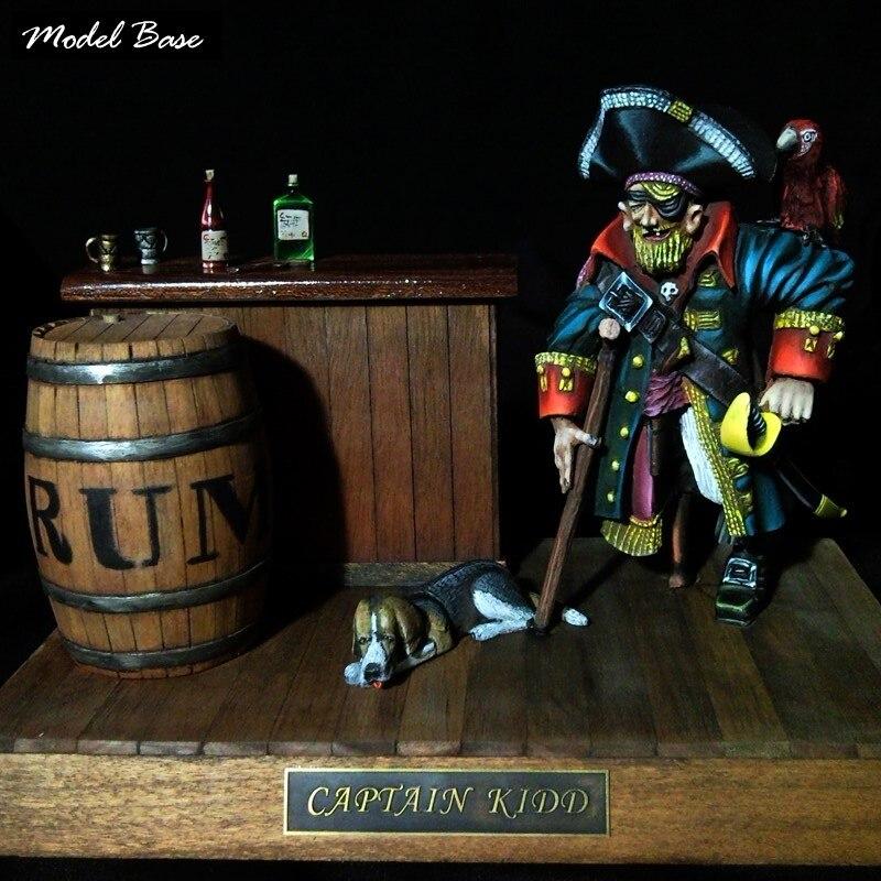 Деревянный корабль модели Наборы для взрослых хобби поезд DIY Развивающие игрушки Весы 1/16 пиратский король Кидд капитан комплект модель лод...