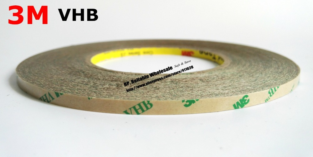 0.25mm thick, (4mm*33M) Super Strong 3M VHB Transfer Tape, High Temperature Resist for Metal Wood Plastic Sealing fuji 4mm cleaning tape for dds drives