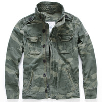 European Style Retro Mens Army Coat Cotton Camouflage Tooling Jacket and Coats American Fashion Mans Jacket Auto Streetwear B696