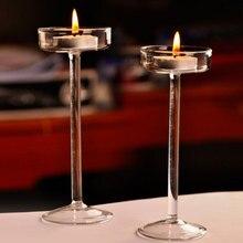 Элегантный Романтический стеклянный подсвечник, подсвечник на День святого Валентина, свадебный ужин, украшение дома, креативный светильник, инструменты