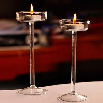 Elegant Romantic Creative Goblet Designed Glass Candle Holder