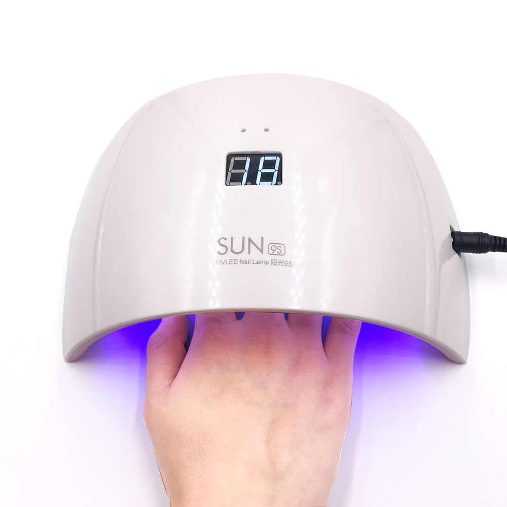 Original SUN9s 24W UV LED Lamp For Nail Dryer White Light Nail Machine for Gel Polish Nail Curing Automatic Sensor Free Shippin