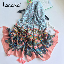 Jacoso 2016 Brand Scarf For Women Print Fashion Scarf Top quality Blanket Soft Cotton Tartan Winter Scarf Luxury Beautiful Shawl