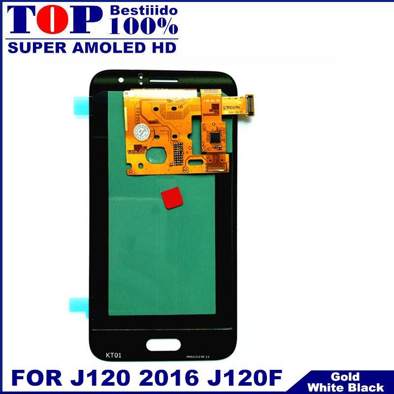 imágenes para 100% de Trabajo AMOLED Pantalla LCD para Samsung Galaxy J120 2016 J120F J120H J120M LCD Pantalla Táctil Digitalizador de piezas de Repuesto
