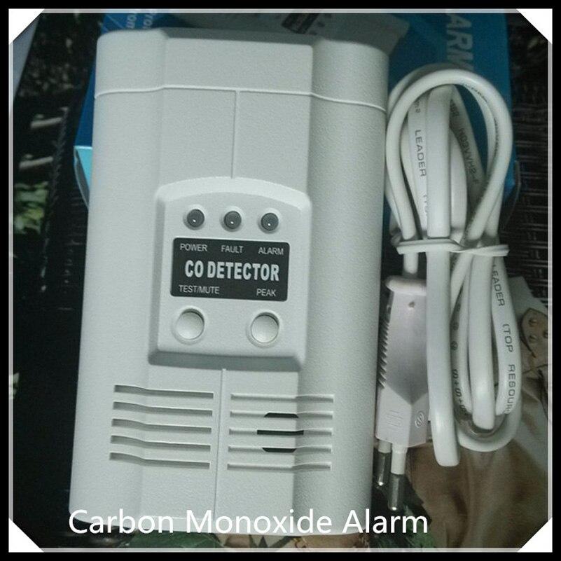 Carbon Monoxide Alarm CO gas detector with CE AC220V Powered Carbon Monoxide detector digital gas analyzers lcd co gas detector carbon monoxide measurement alarm detector 0 2000ppm