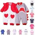 One piece новорожденных детская одежда первый год рождения одежда мальчик с длинным рукавом ползунки хлопка детская одежда восхождение одежды младенца пижамы