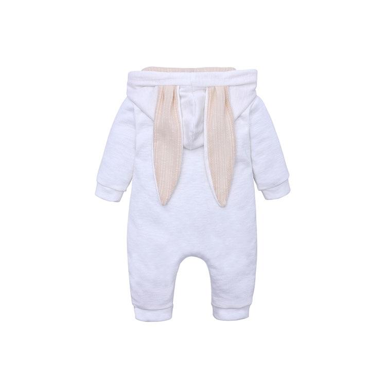 HTB1nM37JCzqK1RjSZFjq6zlCFXaJ Spring Autumn Newborn Baby Clothes Bunny Baby Rompers Cotton Hoodie Newborn Girl Onesies Fashion Infant Costume Boys Outfits