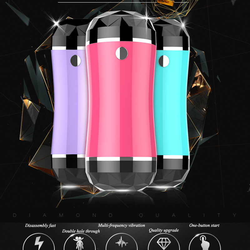 New Dual Channel Male Masturbator Electric 6 Speed Vibration Realistic  Pussy Vagina Anal Oral Pocket Adult Sex toy for Men 0be76aa9aa04