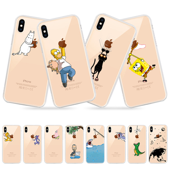 Transparent Soft TPU Case For iPhone Xs Max Xs Xr 8 7 6 6S Plus 5 5S SE 11 Pro Max Silicone Cover Case For iPhone 8 7 6 6S X 11