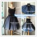 """2016 Summer Fashion 21"""" Long Two Tone Mini Women Tulle Skirts Princess Adult Tutu Ball Gown Saias Femininas vestidos Plus Size"""