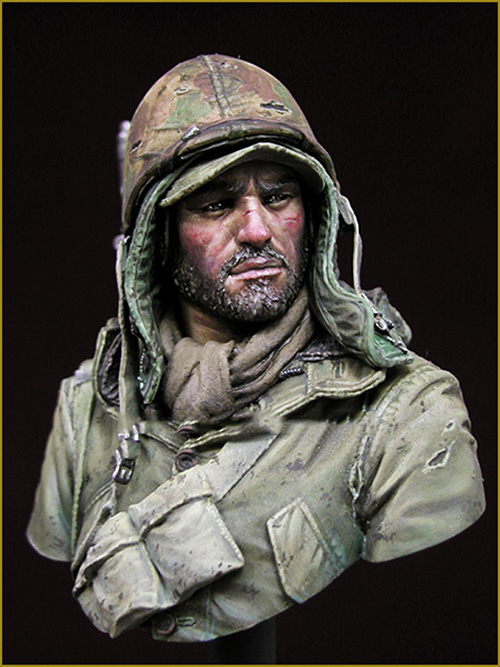 Assembly Unpainted Scale 1/10 USMC soldier bust modern WAR 1950 figure Historical WWII Resin Model Miniature Kit wwii hms surprise captain jack resin soldier bust model resin bust master and commander
