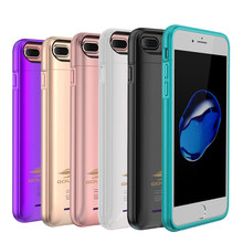 Battery Charger Case For iPhone 6 6s 7 8 plus External Phone Power Bank Charging Cases Cover Built in Metal Sheet Powerbank(China)