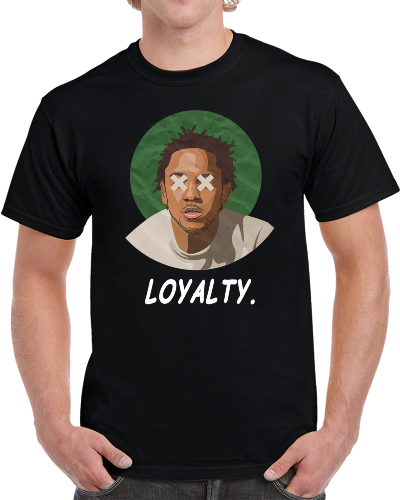DAMN KENDRICK LAMAR LOYALTY T SHIRT K-Dot DRAKE RAP SONG TITLE Multi Color Tee Tees Men'S Clothing Big Size:S-XXxl T-Shirt image