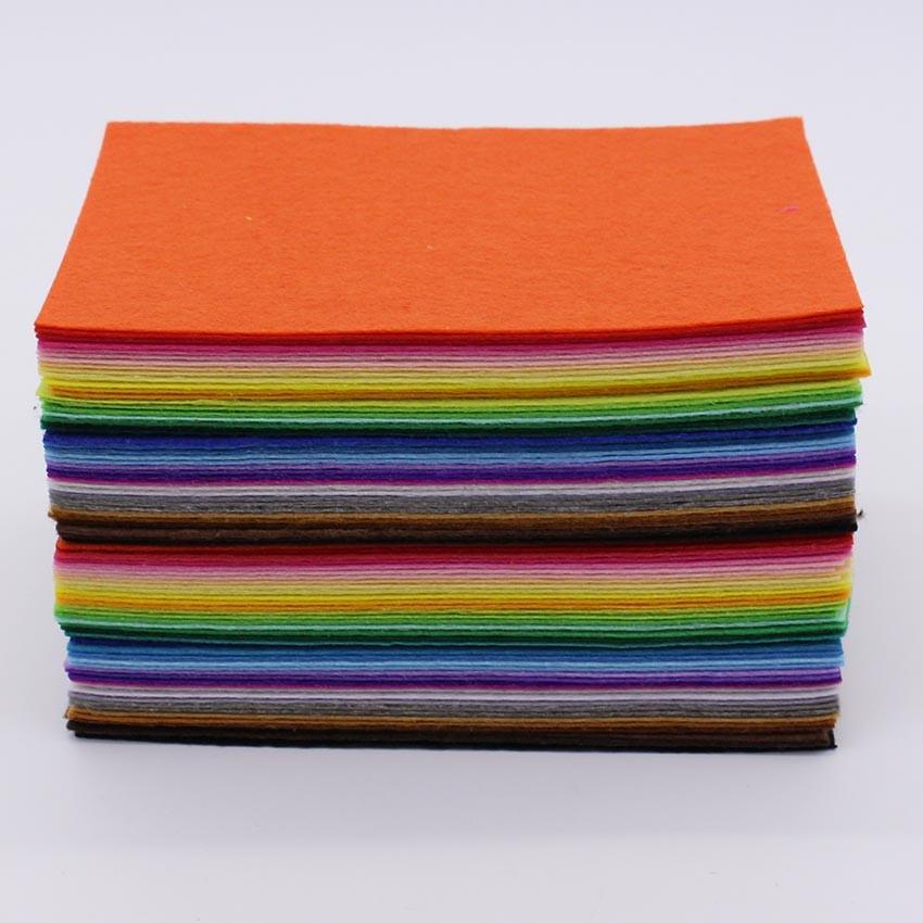80 шт. / лот1 мм войлок нетканые войлок ткань, ткани фетр, фетр ткань фетр акрил нетканые ткани, рукоделие, швейные, ручной Чилболтон ткани для кукол ткани для шитья кукла ткань Войлок на тканевой набор такие фетр листовой
