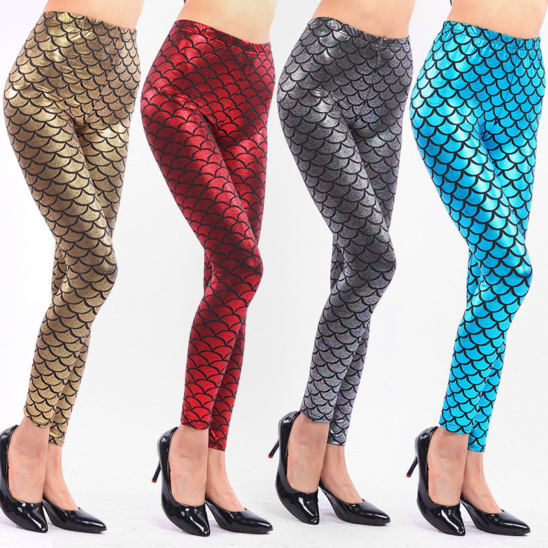 Detalle Comentarios Preguntas sobre Señora Fish Básculas leggings primavera  otoño verano sirena Pantalones negro plata negro Rosa oro colorido falso  cuero ... 2f8f4f14e369