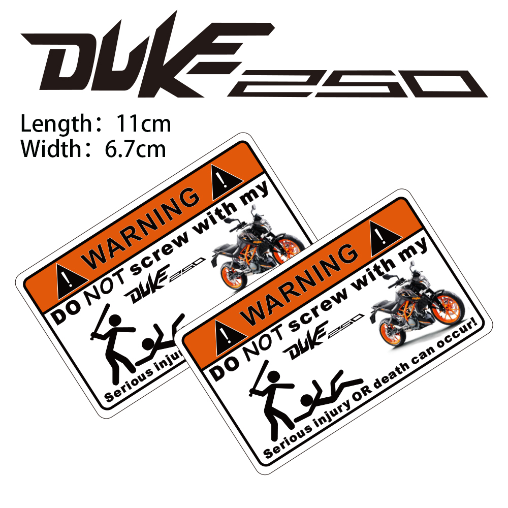 KODASKIN Motorcycle Cheap 2D Creative Warning Sticker Decal for DUKE250