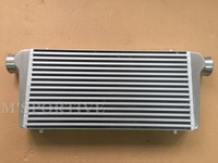 M'SPORTIVE 600*300*76mm Universal Turbo Intercooler bar&plate Front Mount intercooler Polished with 3 Inlet/Outlet