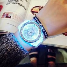 Creative LED flash font b women b font font b Watches b font top Brand Luxury