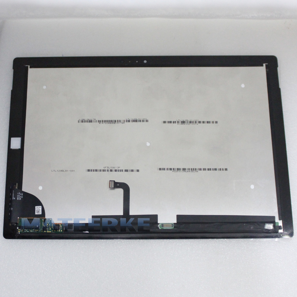 12 LCD Touch Screen Digitizer Assembly for Microsoft Surface pro3 Pro 3 1631 V1.1,LTL120QL01-001 new original for microsoft surface pro 1514 pro 2 1601 ltl106hl01 001 lcd display touch screen digitizer lens free