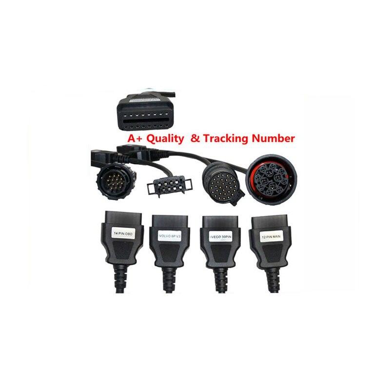 Prix pour 8 pcs Camions Câbles OBD2 OBDII Camions outil De Diagnostic connecter Pour DELPHI DS150E obd scanner outil outils