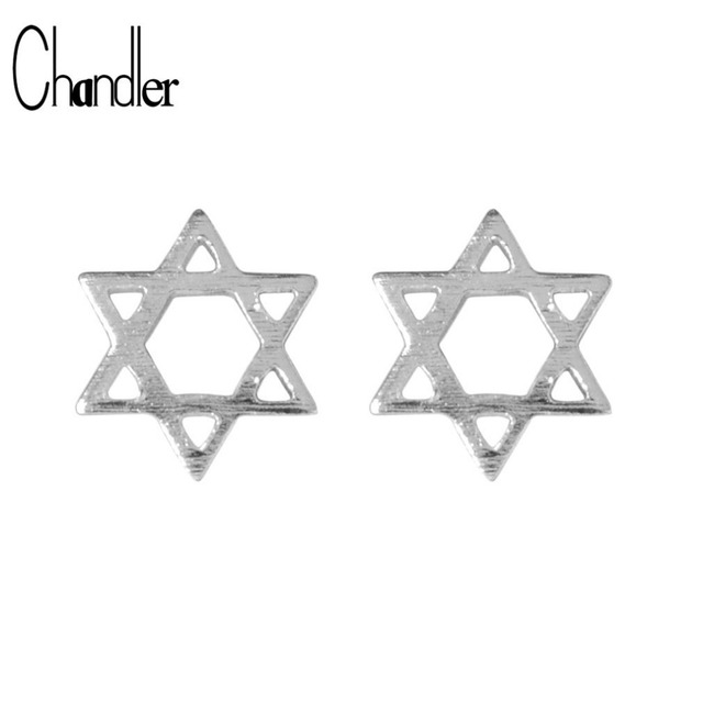 925 sterling silver David Star Stud Earrings For Women Geometrical Simple Tiny Small Ear Statement Jewelry Best Birthday Gift