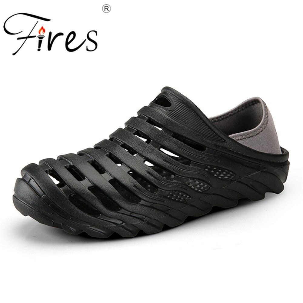 Срабатывает Обувь для разведки и добычи для Для мужчин удобные шлепанцы для Плавания летняя уличная пляжная обувь легкого быстросохнущего ... ...