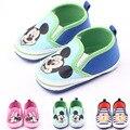 3 Colores Bebé Recién Nacido Niñas niños Lienzo Prewalker de Alta Calidad Zapatos de Bebe Niño Zapatos Inferiores Suaves de Dibujos Animados de Mickey