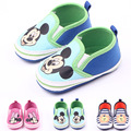 3Colors Newborn Baby Girls Boys Prewalker Canvas High Quality Shoes Bebe Toddler Soft Bottom Cartoon Mickey Shoes