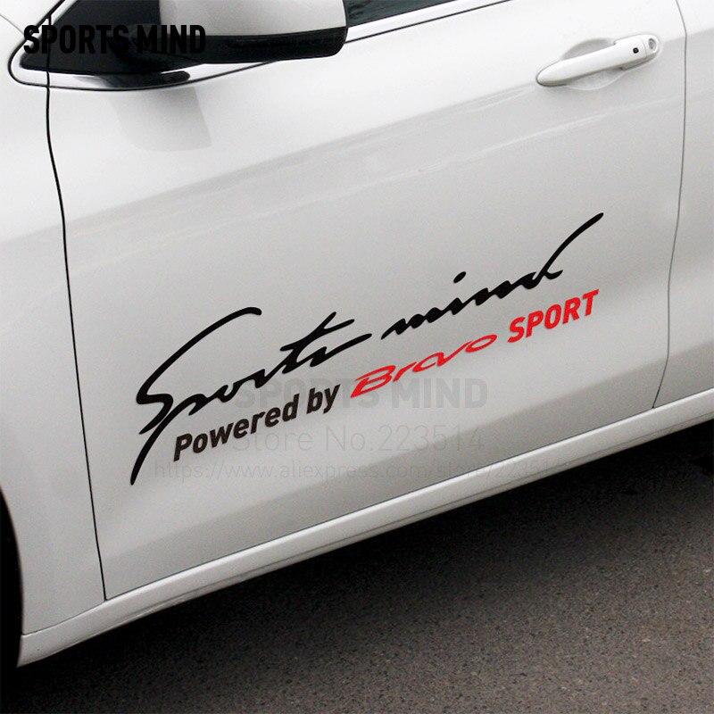 Sport Geist Auf Karosserie Autos Reflektierende Material Vinyl Aufkleber Aufkleber Auto Styling Für Fiat Bravo Exterior Zubehör
