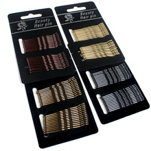 24pcs Drip oil hair care black high-grade does not fall paint  the environmental protection word clip hairpin wire bangs