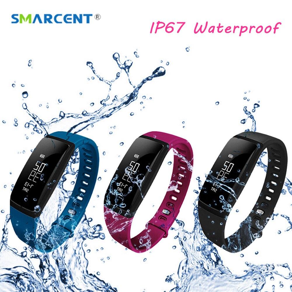 SMARCENT V07 Braccialetto Intelligente di Pressione Sanguigna Orologi Smartband Monitor di Frequenza Cardiaca Fitness Pulsometro Activity Tracker pk ID107 mi2