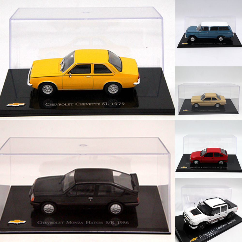 Lot Of Altaya 1:43 IXO For Chevrolet Chevette Monza/Amazona/Kadett Hatch/opala/Vectra/Celta/ Toys Car Diecast Models Gift