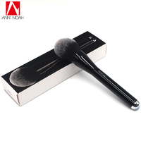 Luxurious Classic Black Wood Handle Feather Soft Anti Bacterial Fiber Generous Extra Wide Shape No 12
