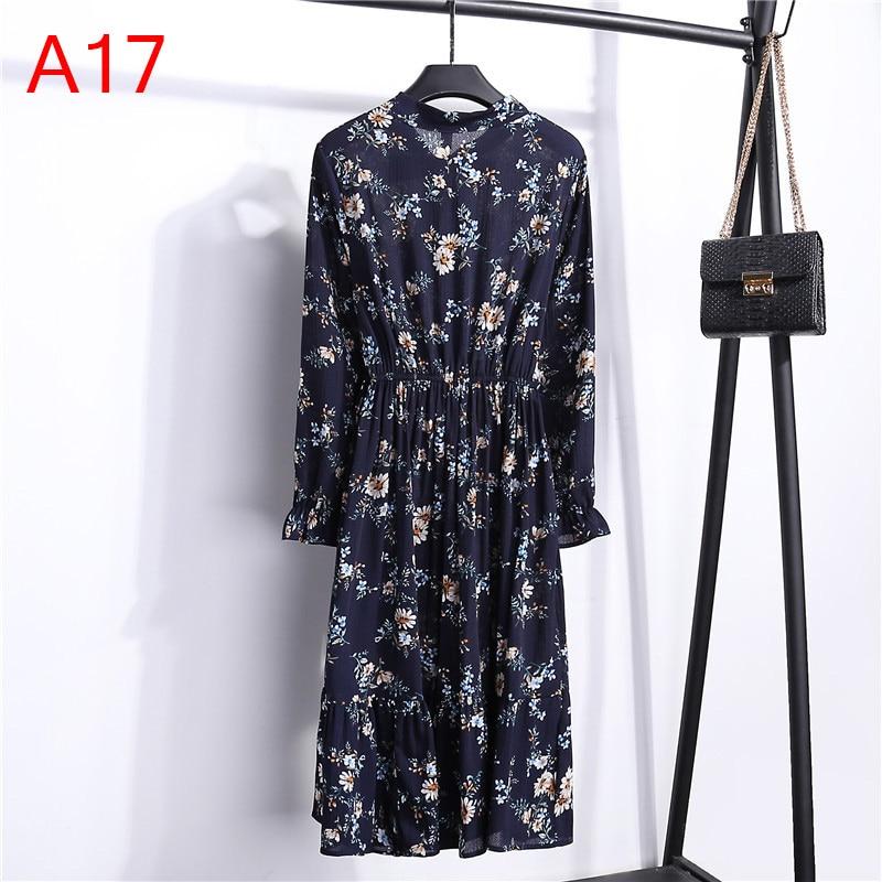 Korean Black Shirt Vestidos Office Polka Dot Vintage Autumn Dresses Women Winter Dress 19 Midi Floral Long Sleeve Dress Female 58