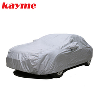 Kayme Universal Full Car Covers Dustproof Outdoor Indoor UV Snow Resistant Protection 170T Polyester Cover For