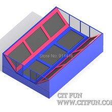 Заказной дизайн аттракционов крытый батут парк и одобрение CE