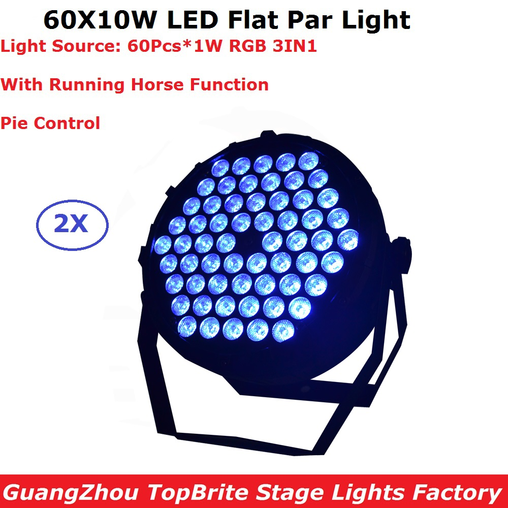 60X1W Flat LED Par Lights RGB 3 Colors Disco Lamp Stage Light luces discoteca laser Beam luz de projector lumiere dmx controller 6units 24x12w rgbw 4in1 aluminum led par can disco lamp stage lights luces discoteca laser beam luz de projector led par light