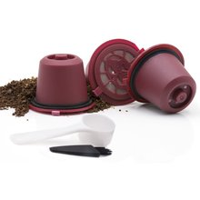 4 unids/pack Recargable Reutilizable Filtro de Cápsula de Café Nespresso Pod Para Línea Original recargable Nespresso de Cápsulas de Café
