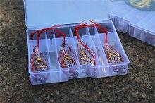 4 pcs Carp Fishing Hooks Power Bait Trap Explosion Hooks Tackle With Box 6#-13#