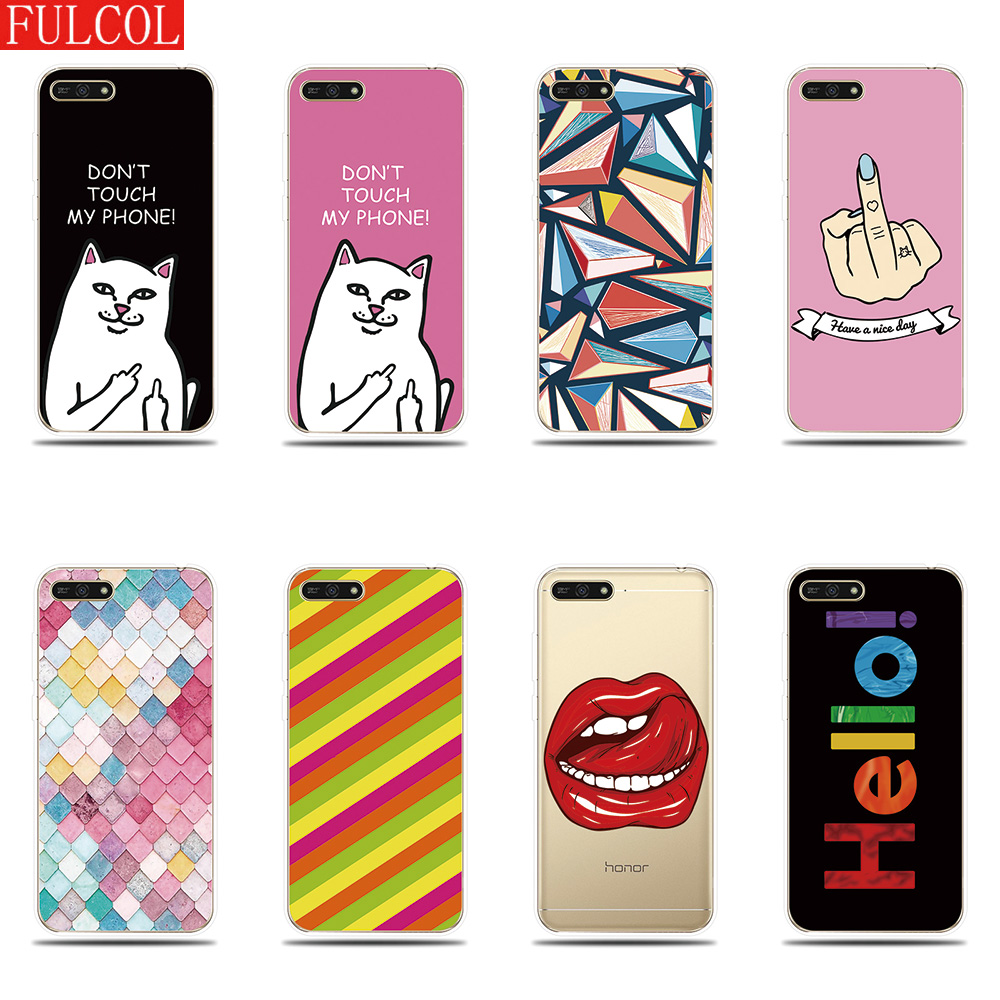Phone Case for Huawei Honor 5A 6X 7X 7A 7C 7S Cover Fashion Personality Printed Silicone Shell for Honor 8 9 Lite 10 Cover Case