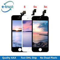 E Trust 10PCS LOT AAA Good Quality LCD Display For Iphone 5 LCD For Iphone 5C