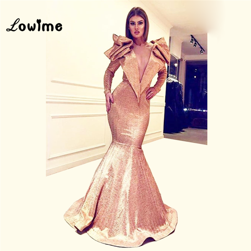 Mermaid Evening Dresses Robe De Soiree Open Back Formal Women Party Gowns 2018 Abendkleider Long Prom Dresses Arabic Dress